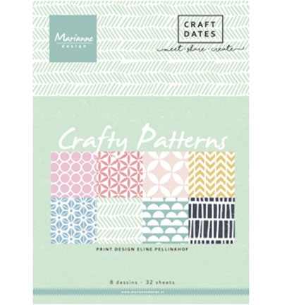 "Pretty Papers Blocks - A5 ""Crafty Patterns""PB7054"