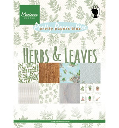 "Pretty Papers Blocks - A5 ""Herbs & leaves"" PK9152"