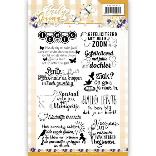 Textstamp - Precious Marieke - Early Spring PMCS10024