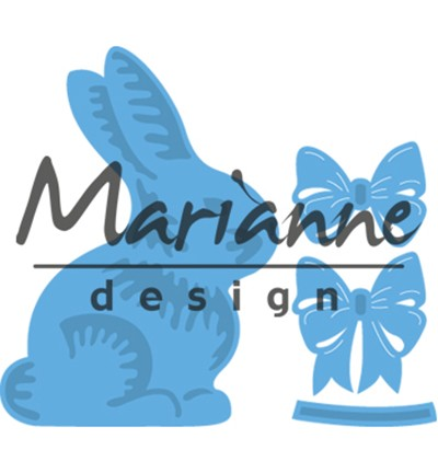 Marianne DesignCreatables LR0519 - Easter bunny with bow
