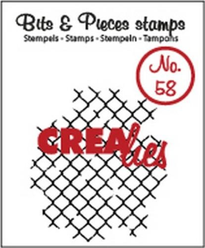 Crealies Clearstamp Bits&Pieces no. 58 thin mesh 37x42mm