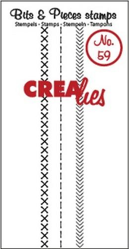 Crealies Clearstamp Bits&Pieces no. 59 Stitch A 95mm