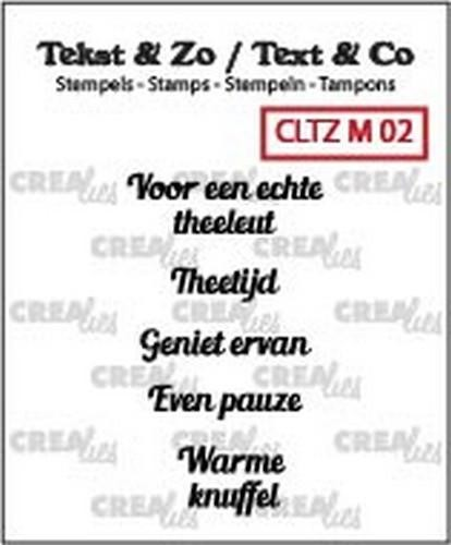 Crealies Clearstamp Tekst & Zo Mini tekst thee A (NL) CLTZM02
