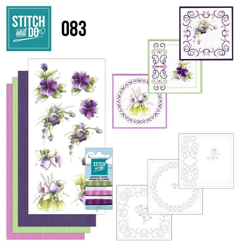 Stitch and Do 83 - Purple Flowers