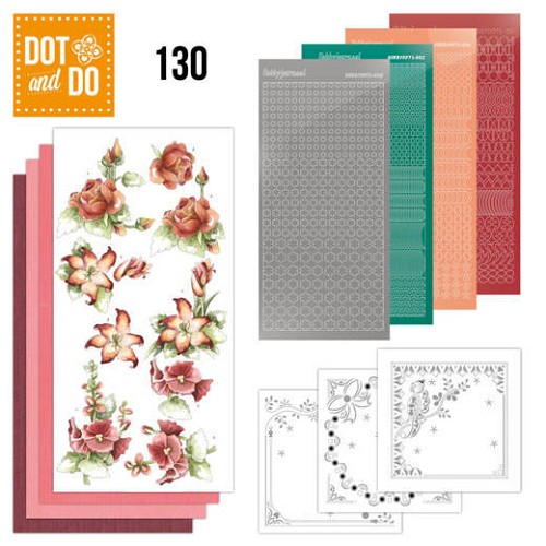 Dot and Do 130 - Precious Marieke - Timeless Red Flowers