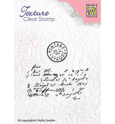 TXCS008 - Clear stamps textures Writing Nellie Snellen