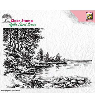 Clear Stamps idyllic floral scene Waters edge