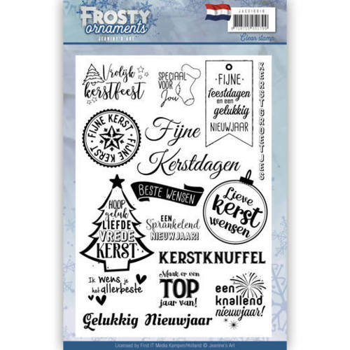 Textstamp - Jeanine's Art - Frosty Ornaments - NL