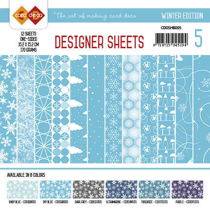 Card Deco - Designer Sheets - Winter Edition hemelsblauw