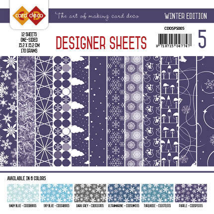 Card Deco - Designer Sheets - Winter Edition paars