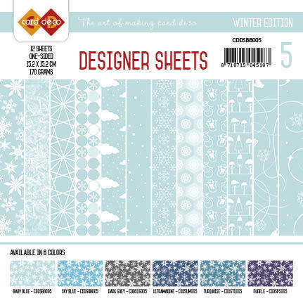 Card Deco - Designer Sheets - Winter Edition babyblauw