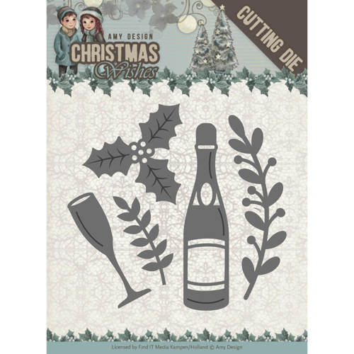 Dies - Amy Design - Christmas Wishes - Champagne