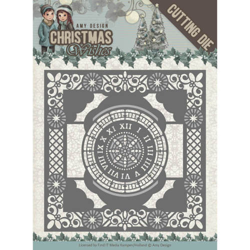 Dies - Amy Design - Christmas Wishes - Twelve O'clock frame