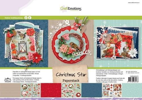 CraftEmotions Paper stack Christmas Star 11 vel A4