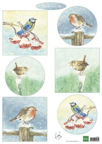 Marianne D Decoupage Tiny's birds in winter IT605