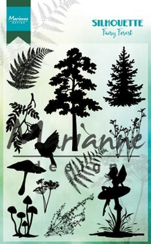 Marianne D Clear Stamp Silhouette fairy forest CS10131