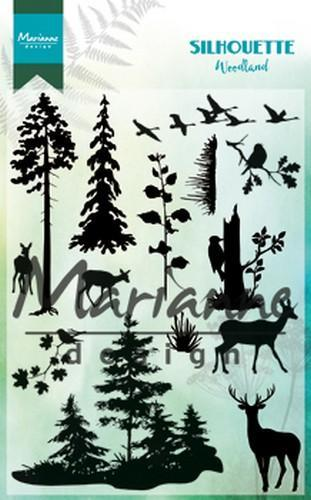 Marianne D Clear Stamp Silhouette woodland CS1014