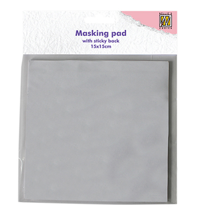 Masking whole sticky back white paper
