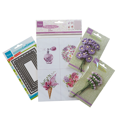 Assorti Pakketten Marianne Design Perfumed flowers purple PA4081A