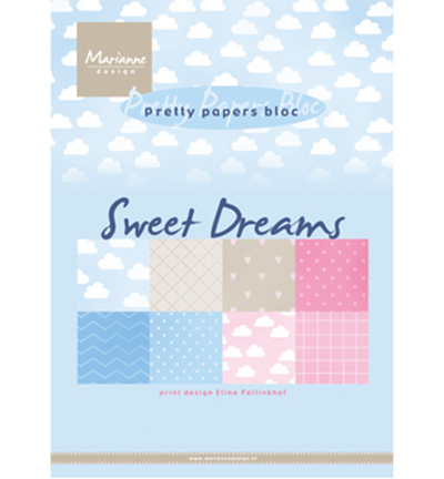 Pretty Papers Blocks - A5 PB7055 - Eline's Sweet dreams