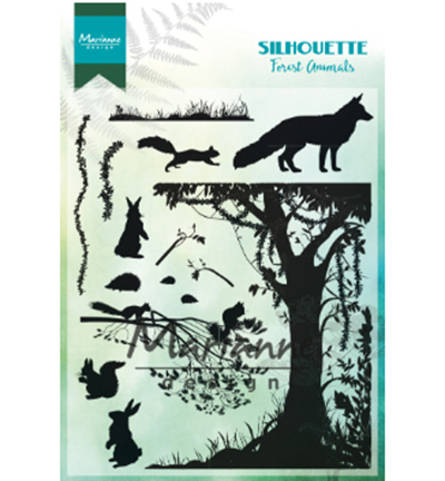 CS1021 - Silhouette Forest Animals