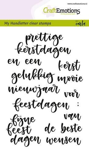 CraftEmotions clearstamps A6 - handletter - woorden kerst (NL) Carla Kamphuis (07-18)