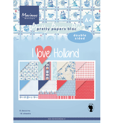 Pretty Papers Blocks PK9168 - I love Holland A4