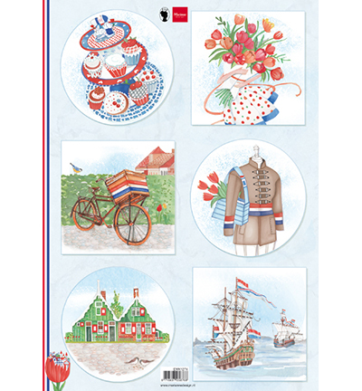 Marianne Design  Knipvel EWK1274 - I love Holland - Bicycle