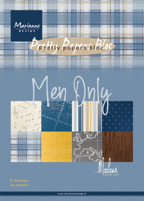 Pretty Papers Blocks - PK9169 - Paperpad Men only by Marleen