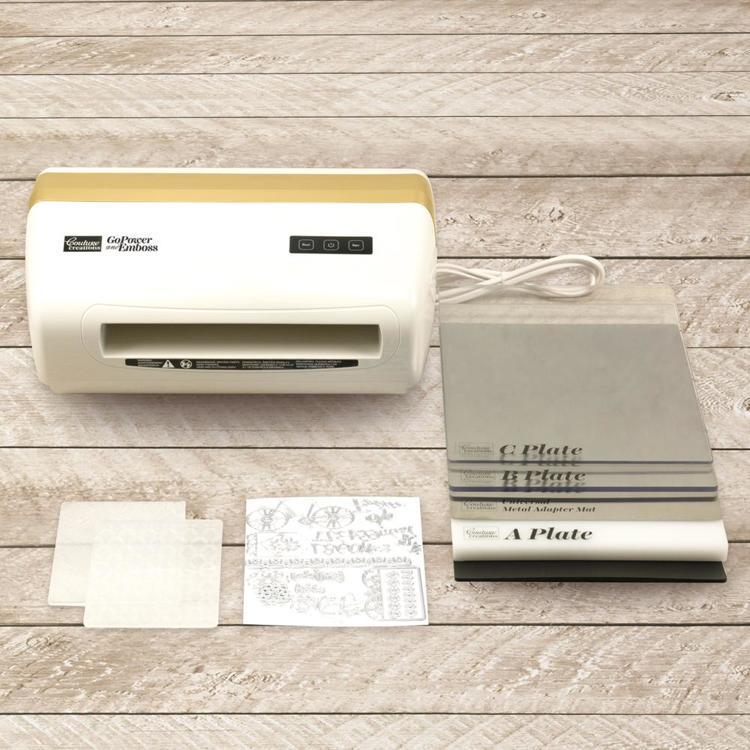 GoPower and Emboss Machine (EU) (inc. 30 Dies and 2 Emboss Folders)