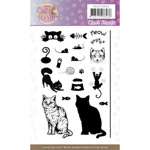 Clear Stamps - Amy Design - Cats World