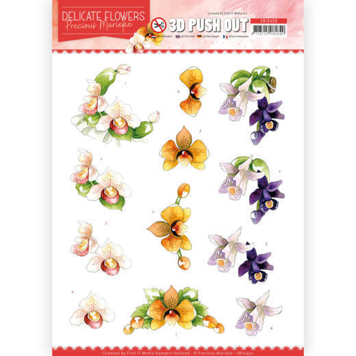 3D Push Out - Precious Marieke - Delicate Flowers - Orchid