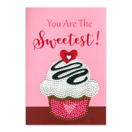 Craft Artist Diamond Art Card Kits - Cup Cake Sweetest