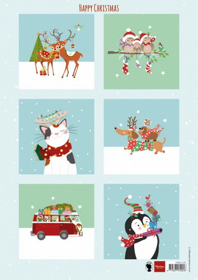 Marianne Design  EWK1278 - Happy Christmas