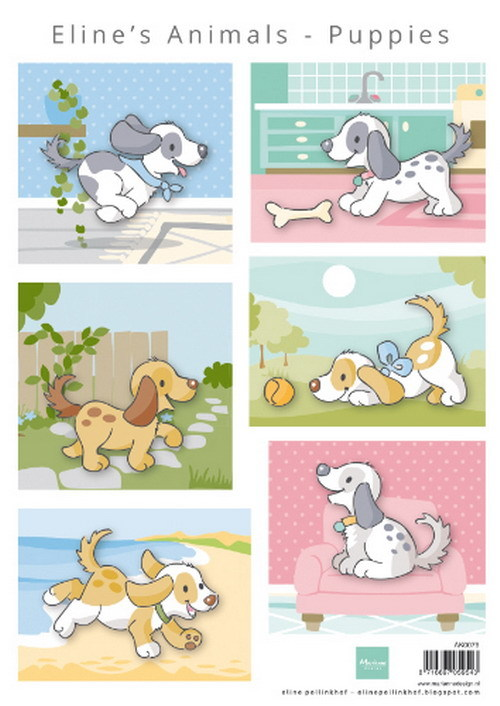Marianne Design  Eline's Animals Puppies AK0079
