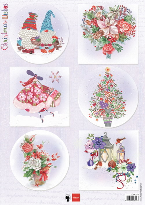Marianne Design Christmas Wishes gnomes EWK1279