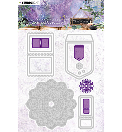 Jenine's Mindful Art Cutting & Embossing Die Time to Relax, nr.10