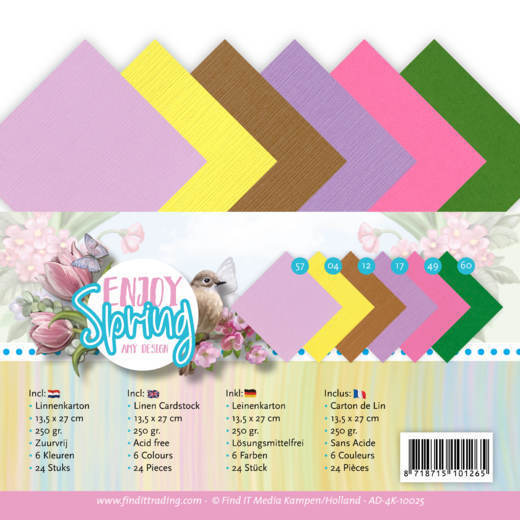 Linen Cardstock Pack - 4K - Amy Design - Enjoy Spring