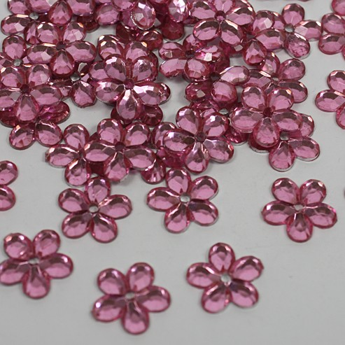 Strass Flowers- roze
