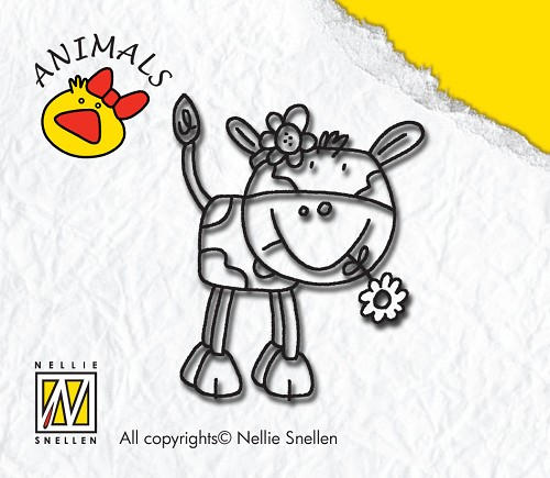 Clear Stamp ANI-003-cow-girl