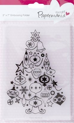 "DC EMBOSSING FOLDER ""BAUBLE TREE"" PMA515901"