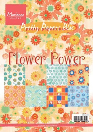"PRETTY PAPERS BLOC  ""FLOWER POWER""  PK9078"