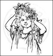 CLING STAMP LADY CS0849