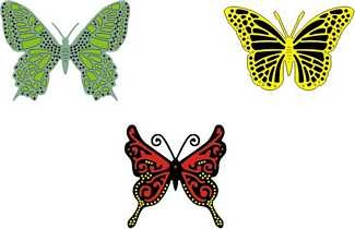 Doily mal Exotic Butterflies Small 2