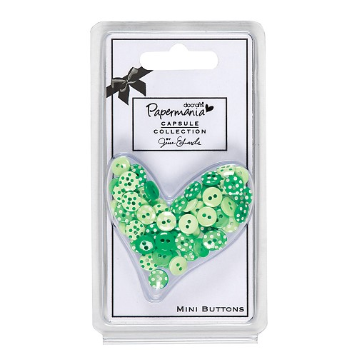Capsule Polka Mini Buttons (60pcs) - Chelsea Green