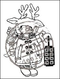 HM Clear Stamp Christmas costume HM9445