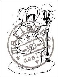 HM Clear Stamp Caroler HM9446