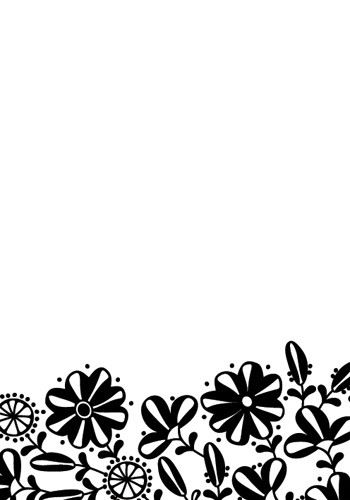 Embossing folder- flower border
