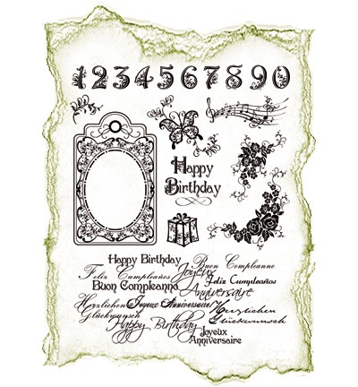 Viva- My paperworld- Siliconen Stempel- Happy Birthday- 4003 017 00