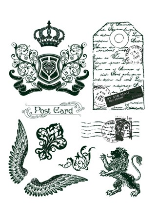 Viva - My Paperworld Siliconen stempel Crown, Lion, Wings  4003 002 00